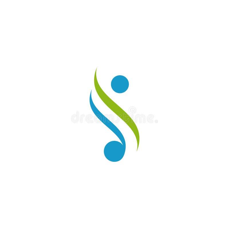Menschlicher Logoentwurf Einfache unbedeutende Art lizenzfreie abbildung
