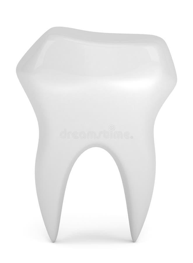 Menschlicher Zahn stock abbildung