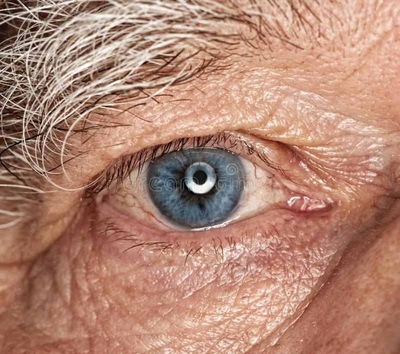 Menschliches Auge stockbild