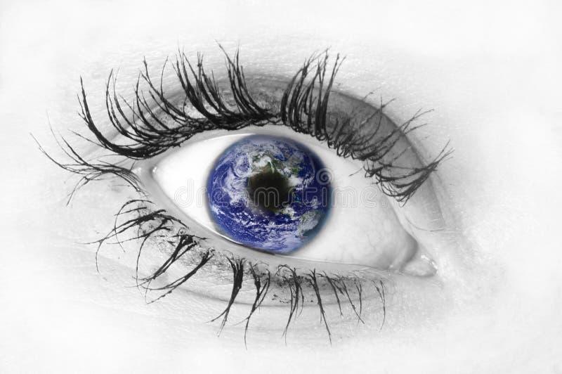 Menschliches Auge lizenzfreies stockfoto