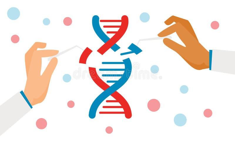 Menschliches Biochemie- und Chromosomforschungsvektorbiologiekonzept lizenzfreie abbildung
