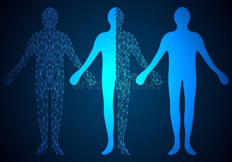 Menschliches digitales Design des abstrakten Technologiekonzeptes auf High-Techer Rückseite stockbild