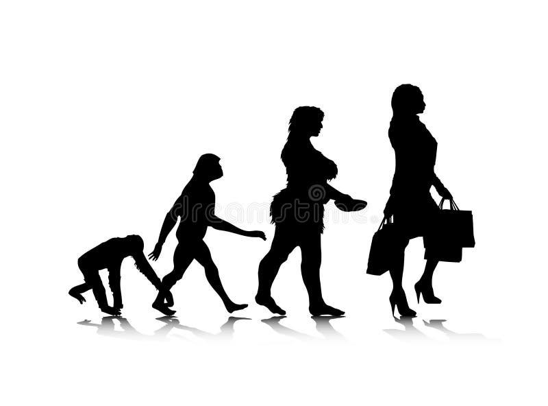Menschliches Evolution_10 stock abbildung