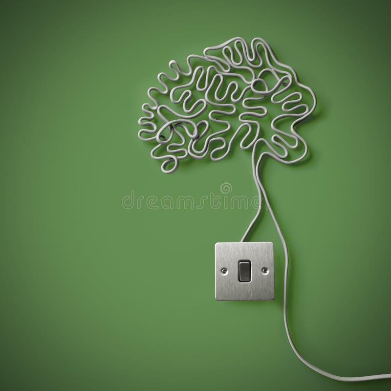 Menschliches Gehirn Gebildet Von Der Elektrischen Leitung Stockbild ...