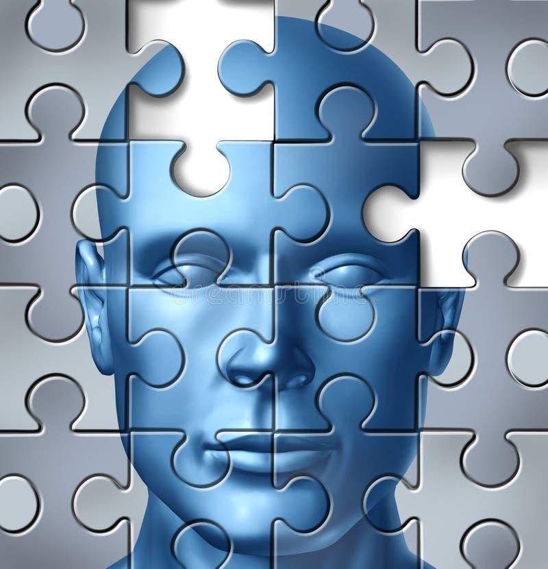 Menschliches Gehirn medizinische Forschung lizenzfreie abbildung