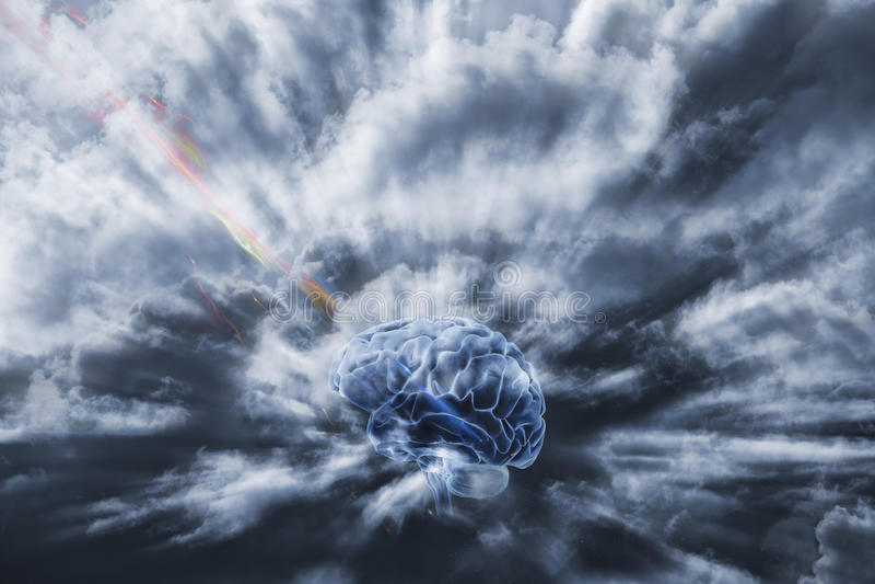 Menschliches Gehirn und Kommunikation stockfotos