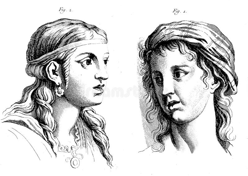 Menschliches Gesicht, Illustration stock abbildung