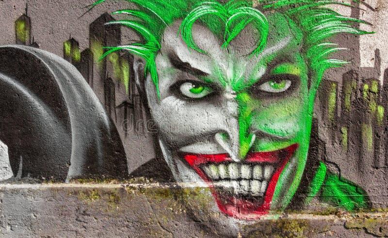 Menschliches Gesichts-Graffiti stockbild