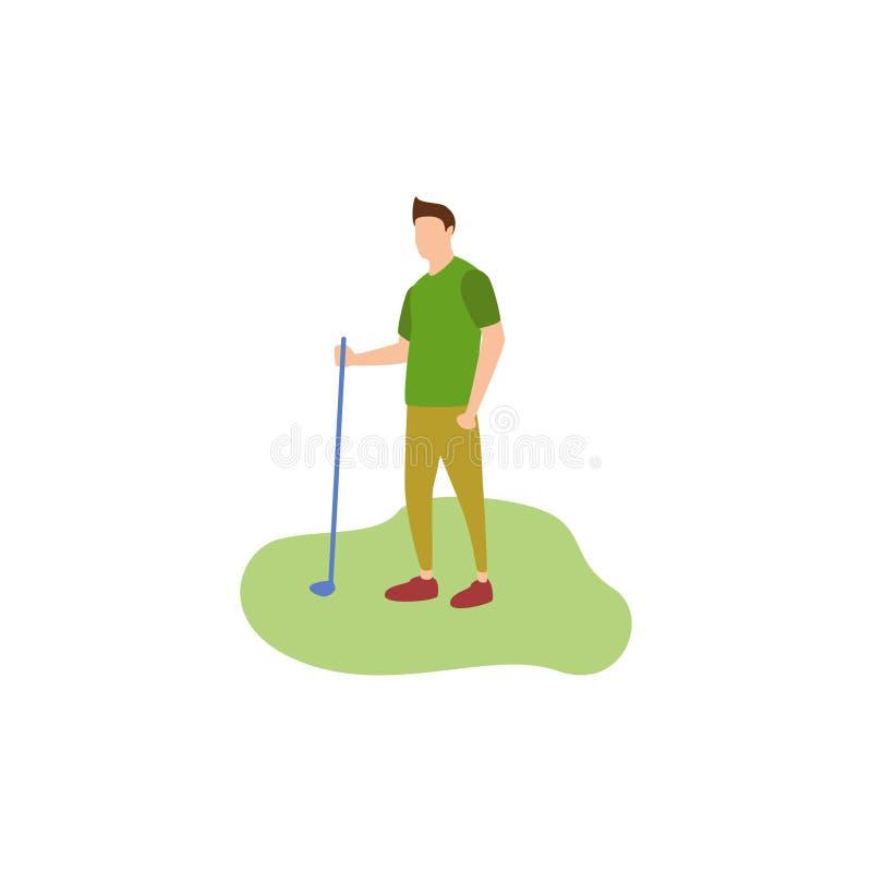 Menschliches Hobby-Golf lizenzfreie abbildung