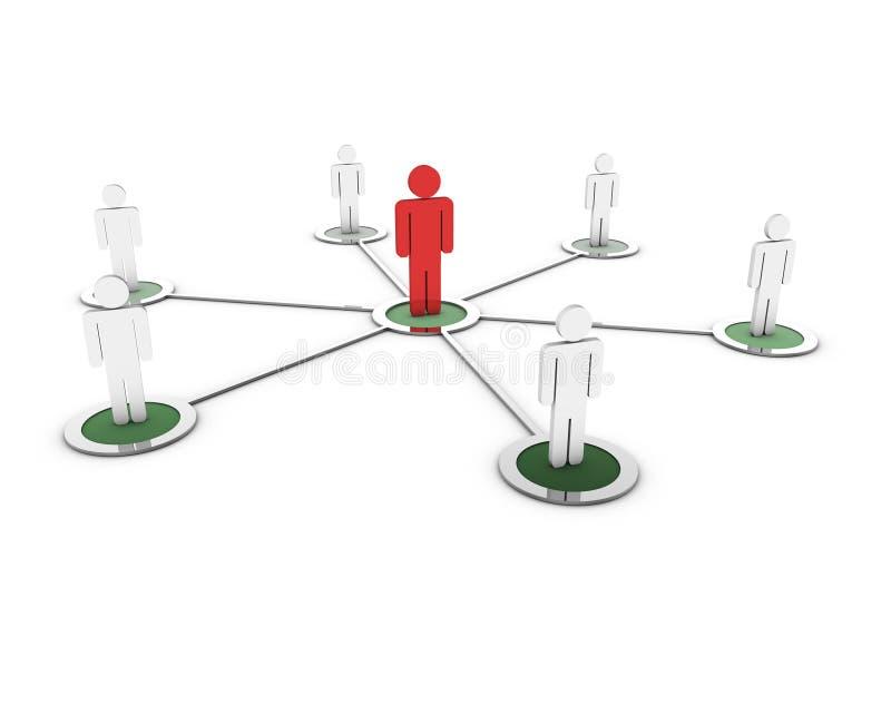 menschliches Netz 3d lizenzfreie abbildung