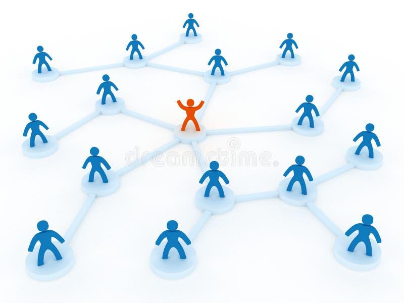 Menschliches Netz stock abbildung