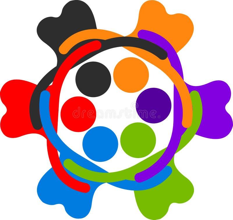 Menselijk cirkelembleem stock illustratie