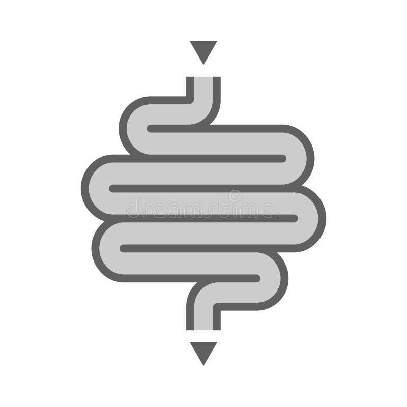 Menselijk darmpictogram royalty-vrije illustratie