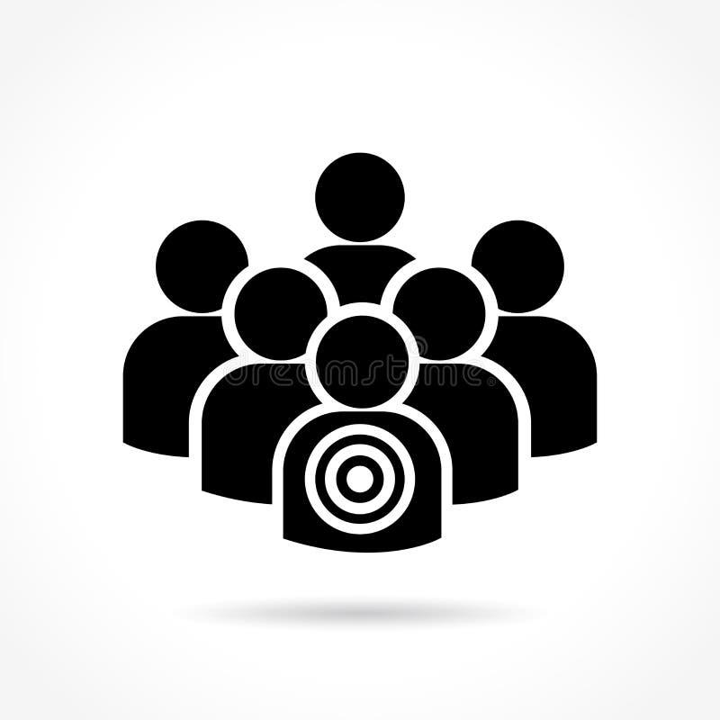 Menselijk doelpictogram stock illustratie