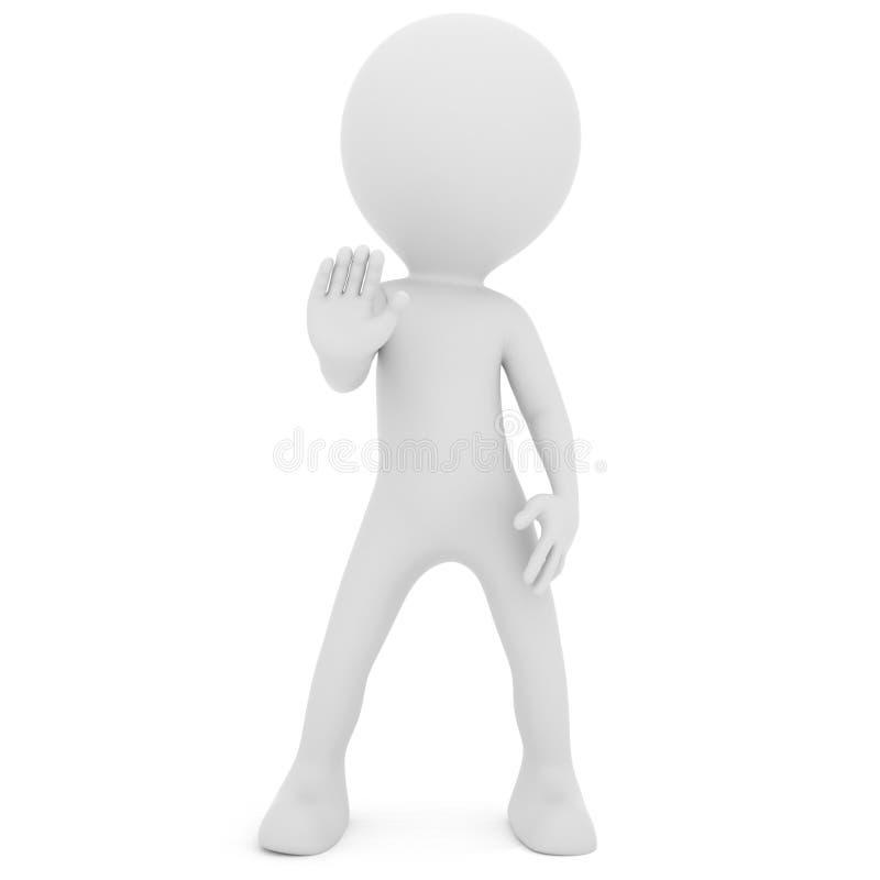Menselijk Einde! Ga verder geen het 3d teruggeven royalty-vrije illustratie