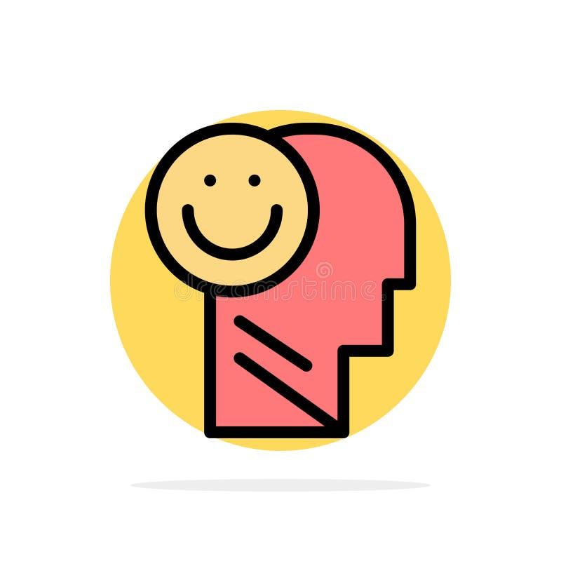 Menselijk geluk, Gelukkig, het Leven, van de Achtergrond optimisme Abstract Cirkel Vlak kleurenpictogram stock illustratie