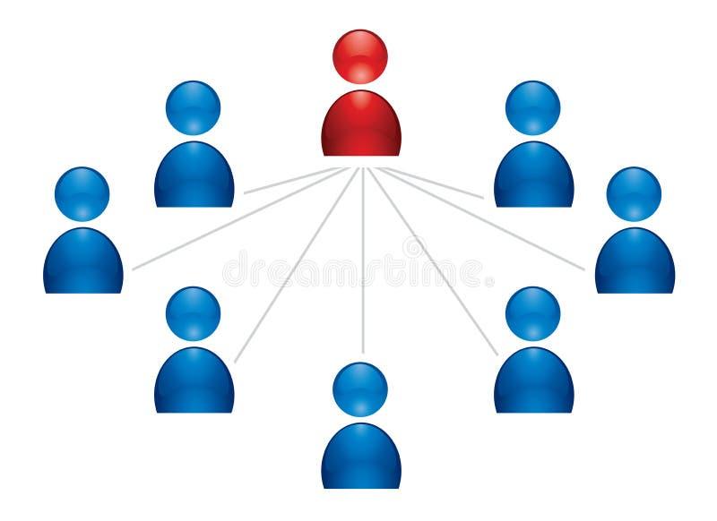 Menselijk groepspictogram stock illustratie