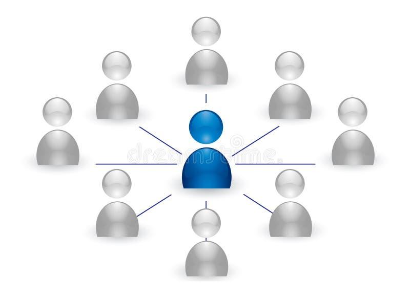 Menselijk groepspictogram royalty-vrije illustratie