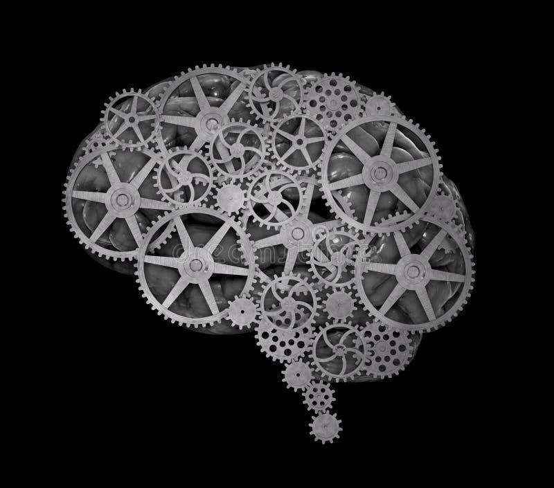 Menselijk hersenenconcept royalty-vrije illustratie