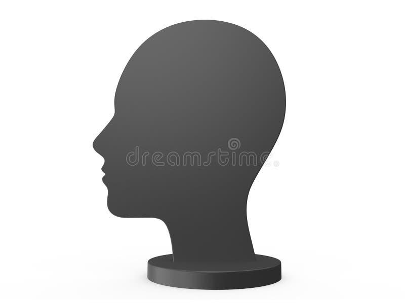 Menselijk Hoofdsilhouet stock illustratie