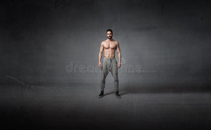 Menselijk lichaam klaar voor training stock foto's