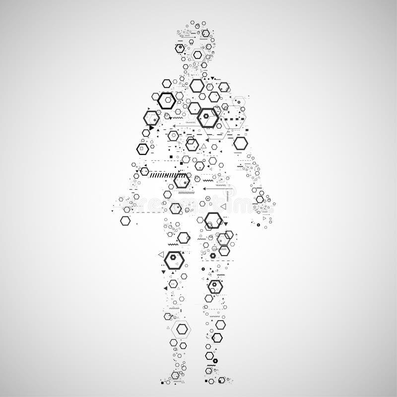 Menselijk lichaamsconcept vector illustratie