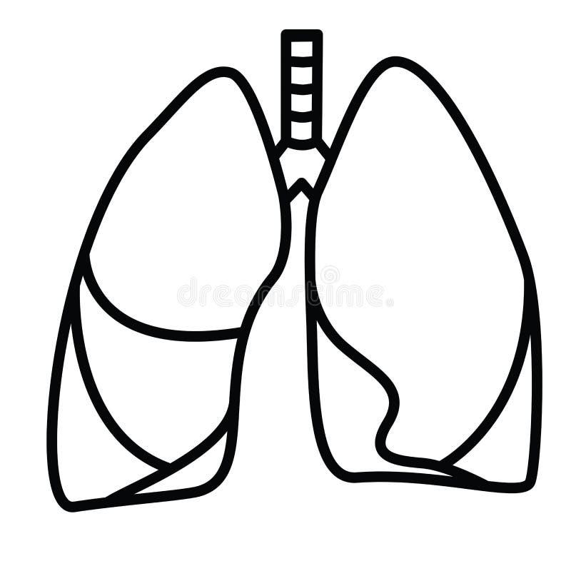 Menselijk Longensymbool vector illustratie