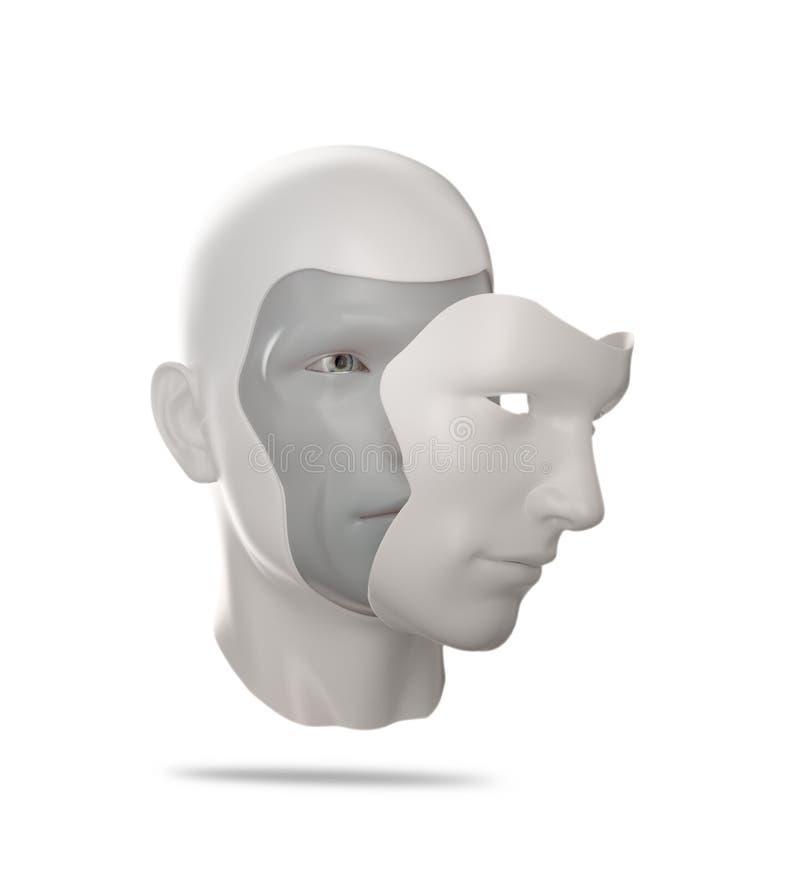 Menselijk masker stock illustratie