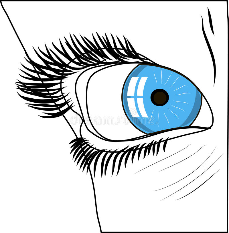 Menselijk oog stock illustratie