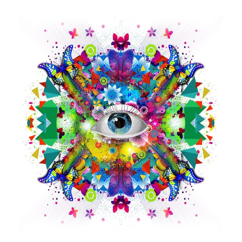 Download Menselijk oog stock illustratie. Illustratie bestaande uit decor - 54077954