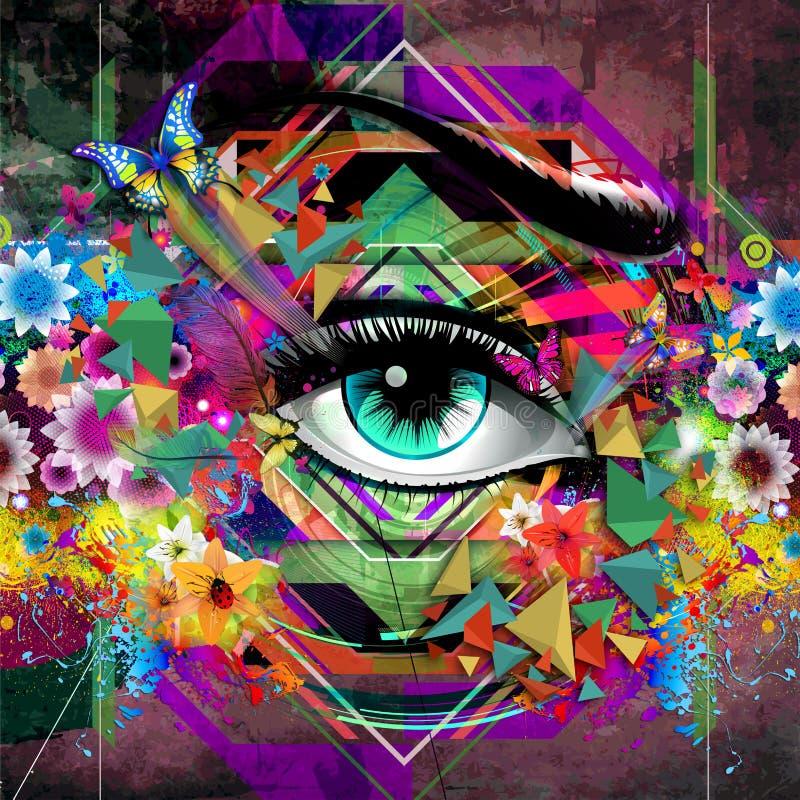 Download Menselijk oog stock illustratie. Illustratie bestaande uit feestelijk - 54078187