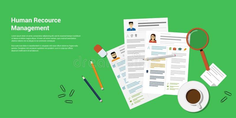 Menselijk Recource-Beheer stock illustratie