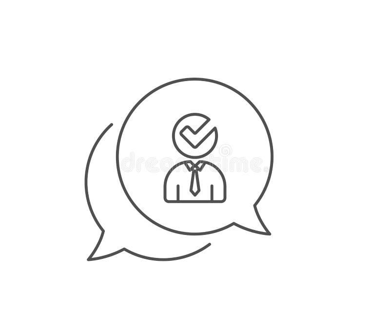 Menselijk silhouet met het pictogram van de Controlelijn Vector royalty-vrije illustratie