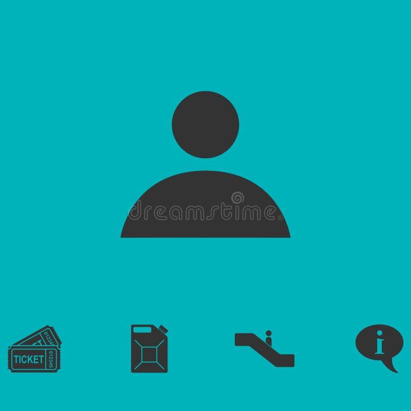 Menselijk vlak pictogram royalty-vrije illustratie