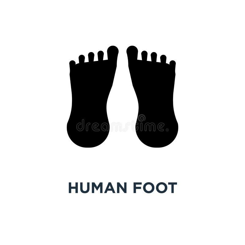 Menselijk voetpictogram Eenvoudige elementenillustratie Menselijk voetconcept stock illustratie
