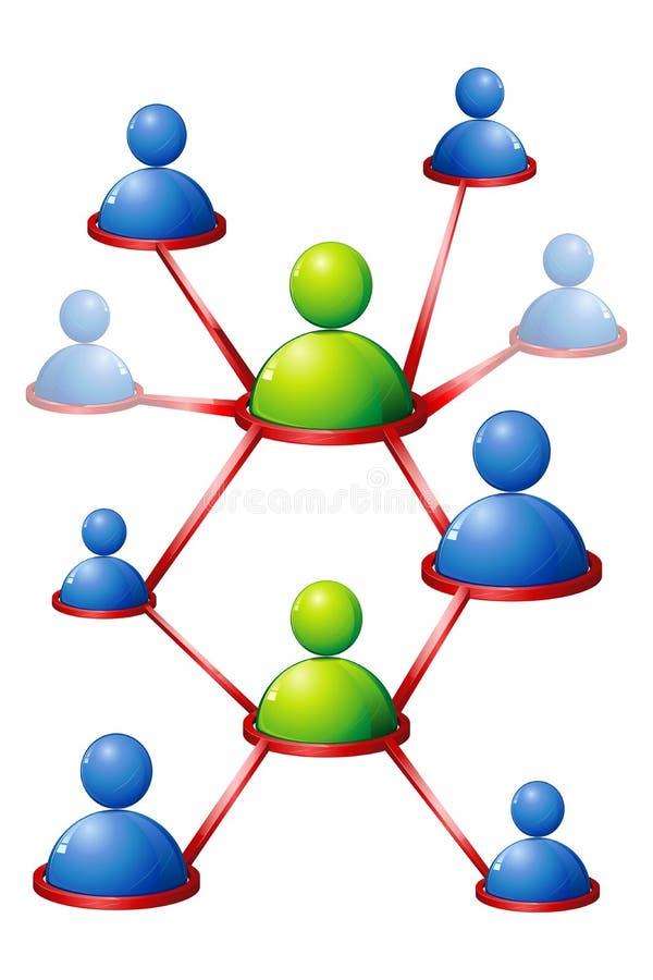 Menselijk Voorzien van een netwerk royalty-vrije illustratie