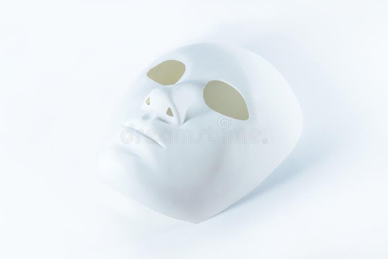 Menselijk wit gezichtsmasker stock afbeeldingen