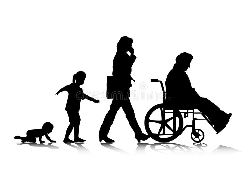 Menselijke Aging_4 vector illustratie
