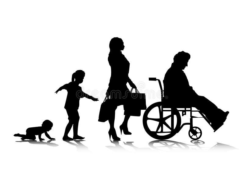 Menselijke Aging_6 vector illustratie