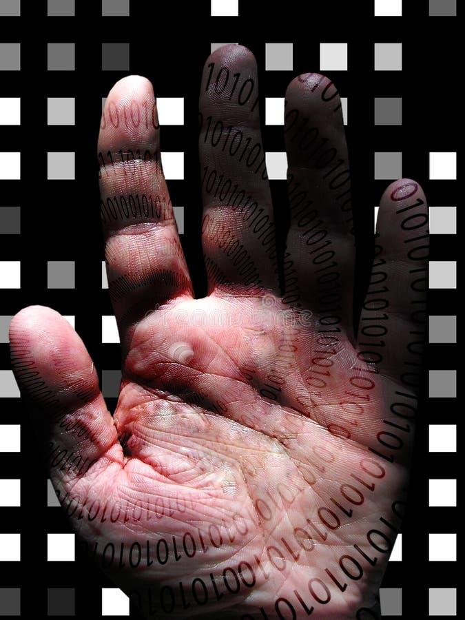 Menselijke Binaire Hand vector illustratie