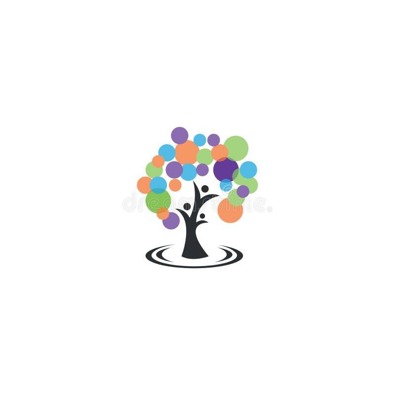Menselijke boom royalty-vrije illustratie