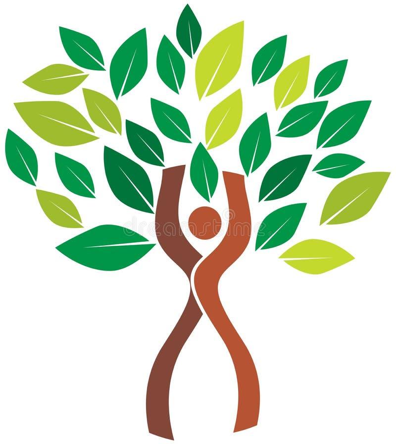 Menselijke boom stock illustratie