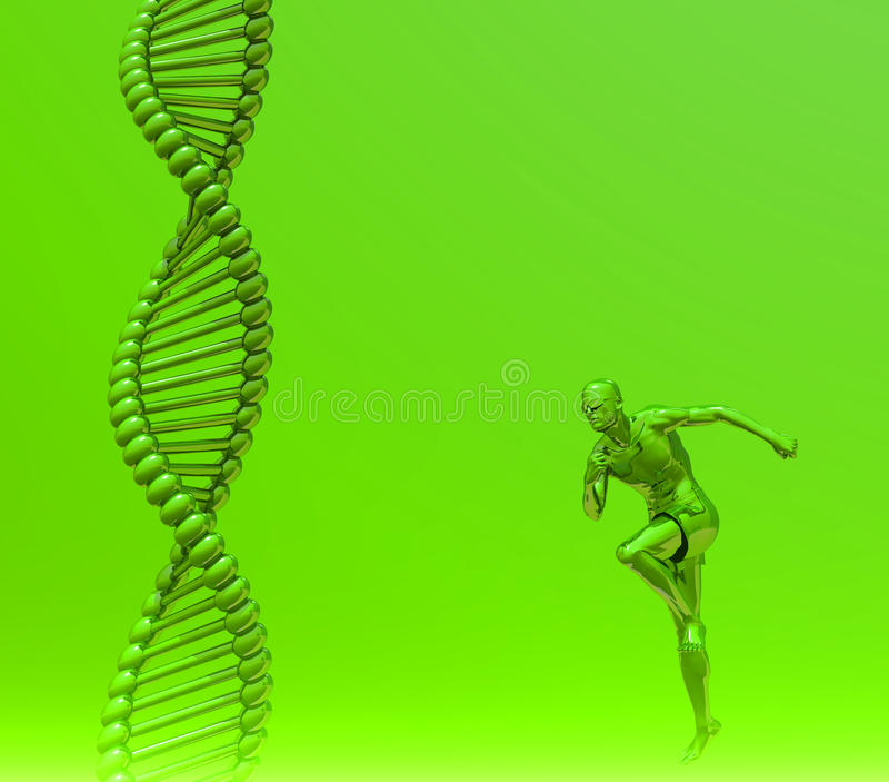 Menselijke DNA royalty-vrije illustratie