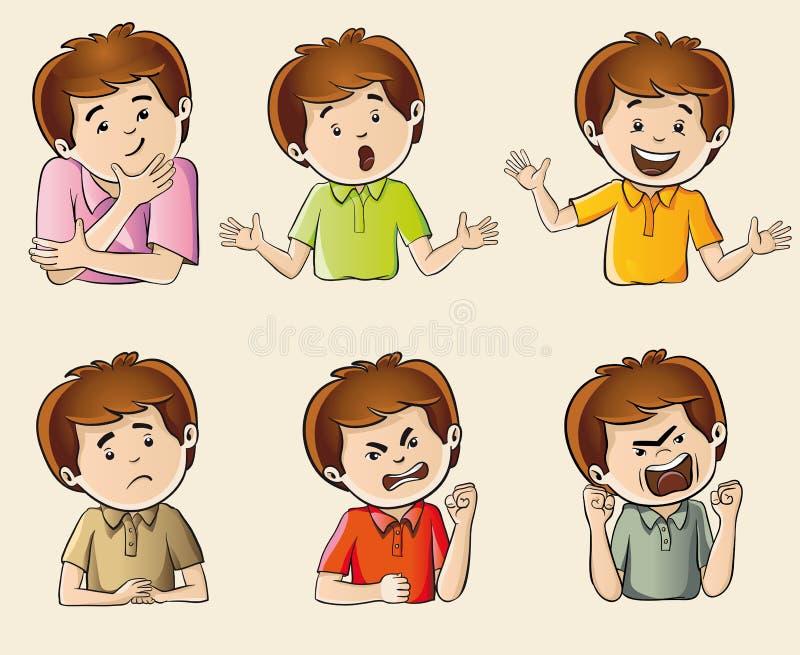 Menselijke emoties royalty-vrije illustratie