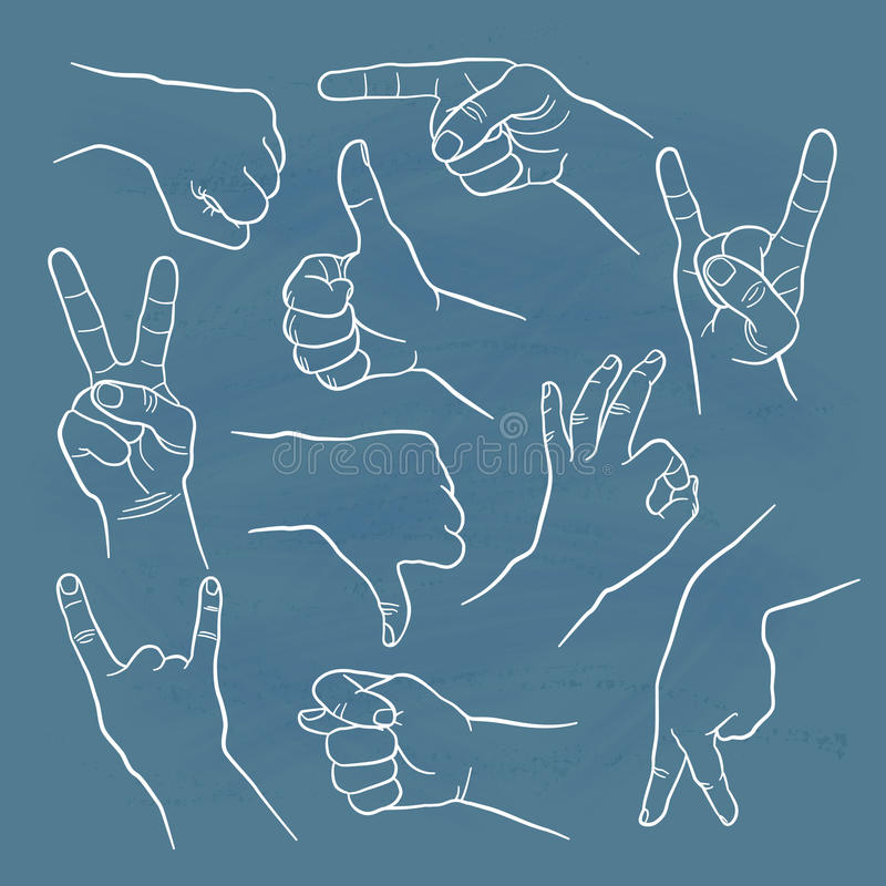 Menselijke gebaren vector illustratie