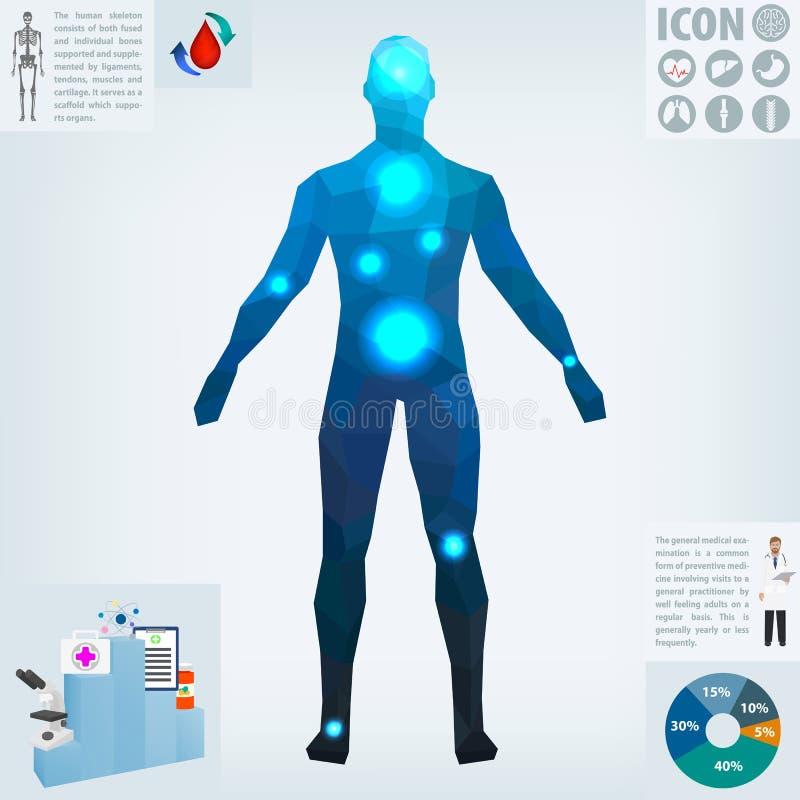 Menselijke gezondheden, geneeskunde, vector stock illustratie
