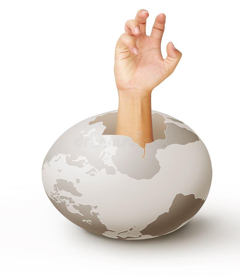 Menselijke handen één stock illustratie
