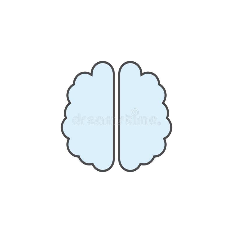 Menselijke hersenen lichtblauwe kleur Hersenenpictogram vectoreps10 Het pictogram van het meningsteken stock illustratie
