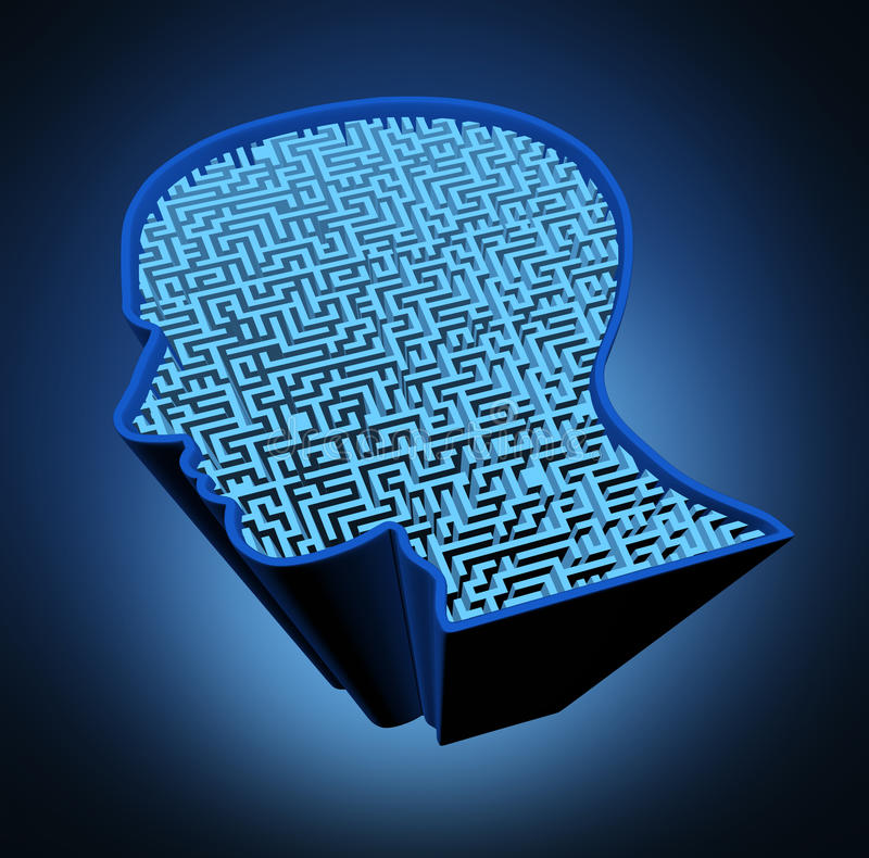 Menselijke hersenenziekte royalty-vrije illustratie