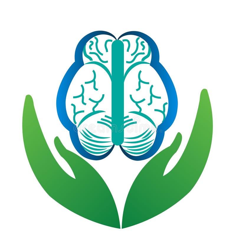 Menselijke hersenenzorg vector illustratie